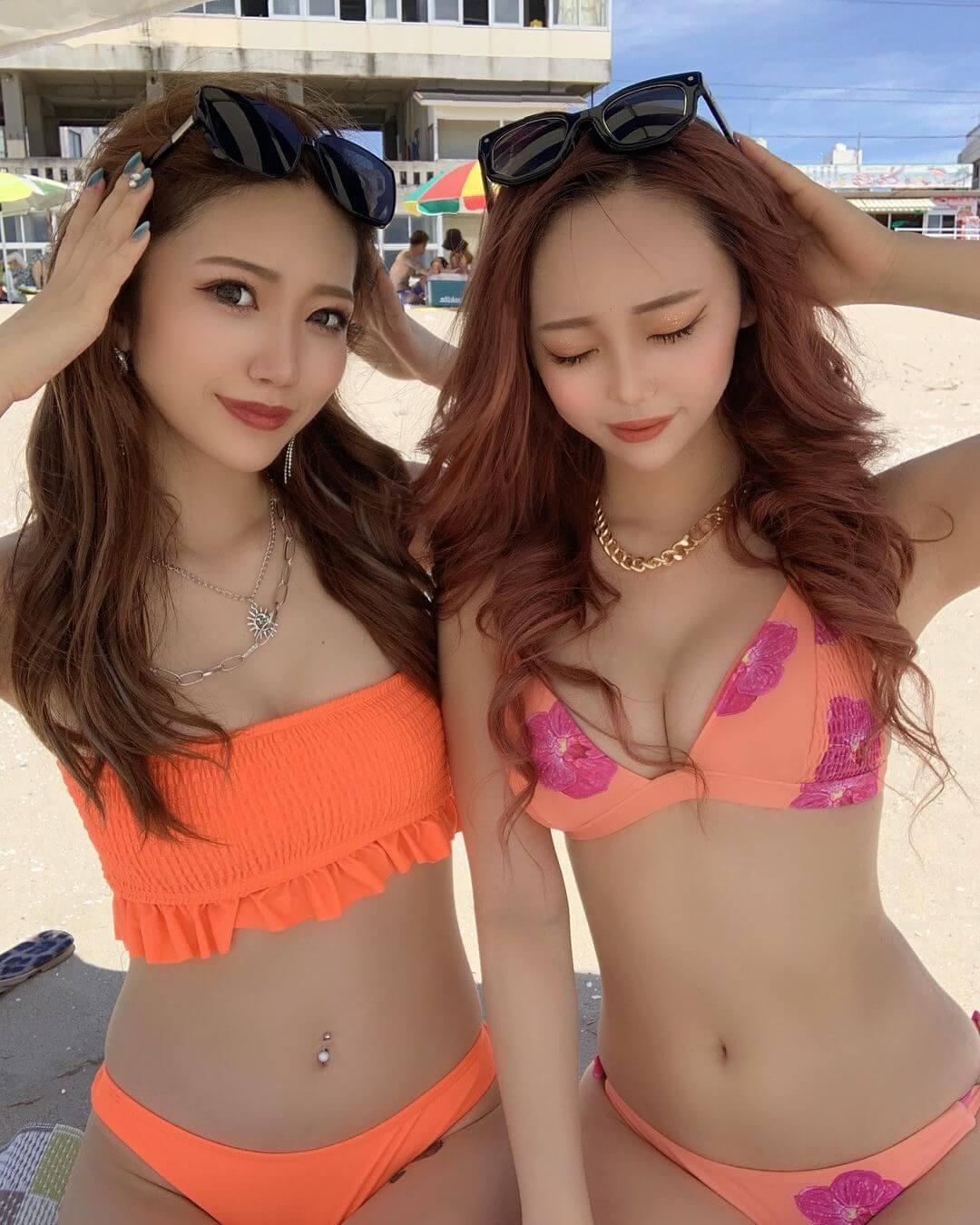 【素人画像】夏の風物詩!美巨乳女子たちの水着写真!